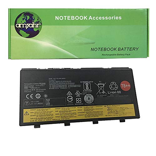 Amsahr LEN00HW030-03 - Batería de reemplazo para Lenovo 00HW030 Lenovo ThinkPad P70, P70 (20ERA004CD) (Incluye Auricular estéreo) Color Gris