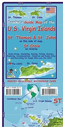 U.S. Virgin Islands Dive Map and Fishcard: Tauch- und Schnorchel Freizeitkarte