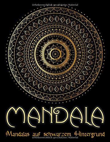 Mandala: 95 Mandalas für Erwachsene auf schwarzem Hintergrund für fantastische Farben | kostenlose Malvorlagen als PDF zum Ausdrucken