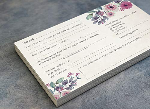 Gästebuchseiten 50 Gästekarten zum Einkleben ins Gästebuch - 3