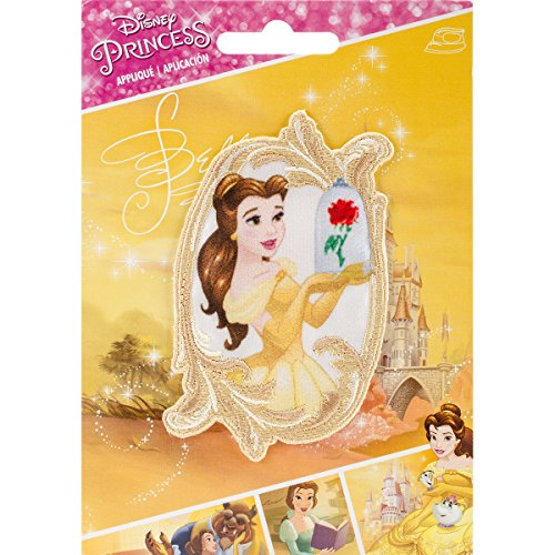 Simplicity Disney Princesa Belle en Espejo Applique, poliéster, Multicolor, 10,34x 14.22X 0,23cm