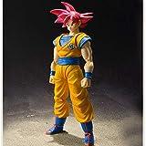 Liiokiy Anime Model Dragon Ball Super Figure Songoku Red Hair PVC Figura de acción Arte Estatuas Animaciones Arte Modelo Modelo Mano Mano Modelo Juguetes Coleccionables Juguete Boxed 16cm