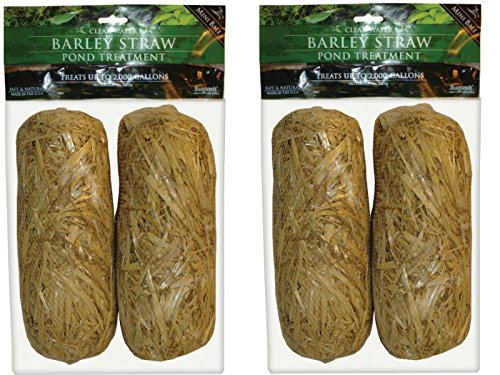Summit 130 Clear-water Barley Straw Bales, 2 Packs of 2- 4 total