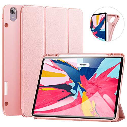 ZtotopCase for iPad Pro 12.9 Inch 2018, Full Body Protective Rugged Shockproof Case with iPad Pencil Holder, Auto Sleep/Wake, Support iPad Pencil Charging for iPad Pro 12.9 Inch 3rd Gen – Rosegold