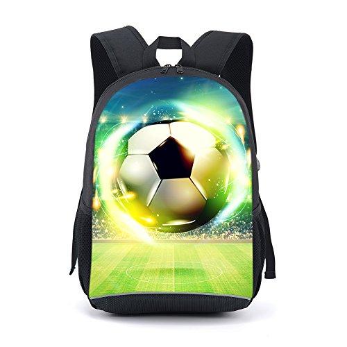 CAIWEI mochila escolar de 17 pulgadas para estudiantes (Light blue)
