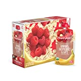 Happy Baby Organic Clearly Crafted Stage 2 Baby Food Bananas, Raspberries & Oats, 4 Ounce (16 Count)