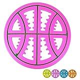 AVANZONA Giocattolo del Cane da Masticare Frisbee in Gomma Cava a Forma di Pallacanestro da 23 cm per Masticare Giocando a Allenamento. Colori Casuali