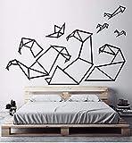 Origami geométrica pegatinas de pared decoración para el hogar sala de estar arte de la pared calcomanías arte dormitorio niños olas diy calcomanía mural 56x85 cm