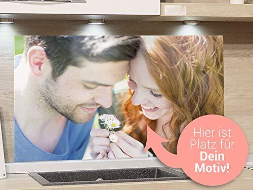 GRAZDesign Küchenrückwand eigenes Motiv/Foto, Glas Spritzschutz Rückwand Küche, Herd und Spüle, Küchenspritzschutz / 80x60cm