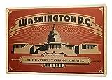 LEotiE SINCE 2004 Cartel Letrero de Chapa Pasión Viajes Ciudad Washington, DC Motto Justitia Omnibus