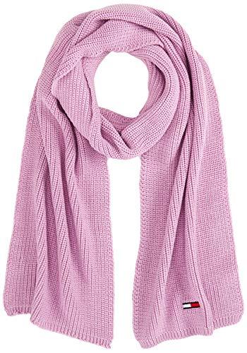 Tommy Jeans Damen TJW Basic Flag Rib Scarf Schal, Violett (Purple Vfe), One Size (Herstellergröße:OS)