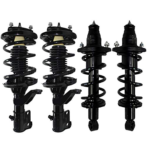 Detroit Axle - 4pc Front & Rear Struts w/Coil Spring Assembly for 2003 2004 2005 Honda Civic 1.7L GAS Models