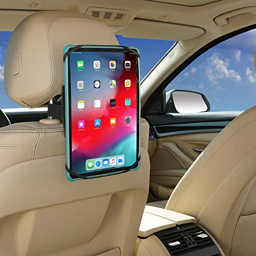 SUNHOME - Soporte para reposacabezas de coche universal, rotación de 360 grados con red de sujeción de silicona, compatible con iPad Pro Air Mini, Galaxy Tabs Tabletas