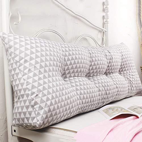 Kopfbrett Doppel Bedside Dreieck Kissen / Kissen Sofa Rückenlehne Soft Case Bett Große Protect Der Taille, 4 Farben, 7 Größen (Farbe: 2, Größe: 200 × 45 × 20 cm), Größe: 120 × 45 × 20 cm, Farbe: 2 Kop