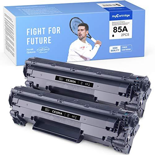 Cartucce per stampanti nero compatibili con MyCartridge HP 85A CE285A Cartucce toner HP Laserjet P1102W M1212NF M1132 M1210 M1130 M1217NFW confezione da 2