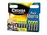 CEGASA Superalkaline - Pack 12 Pilas LR03, Color Verde