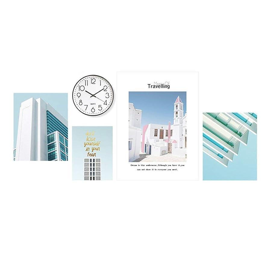 旅客代数的以内に家の壁の装飾フォトフレーム シンプルなリビングルームの装飾絵画コンビネーション北欧ソファの背景の壁の産業スタイルのフォトウォールバーホテルのハンギング絵画 (Color : 03, Size : Free size)