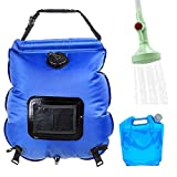 20L Camping Solar Shower Bag Portable Heated Camping Showers Hot Water with Thermometer