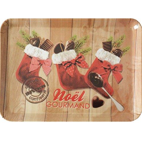 Gourmandise Piccolo Vassoio Rettangolare in melamina cioccolatini di Noel