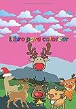 Libro para colorear: Cuaderno para niños - niñas y niños - Diario de 65 dibujos de Ciervos