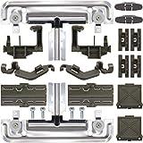 20Packs W10712395 Dishwasher Upper Rack Adjuster Metal Kit, Replace W10350375 AP5957560 Dishwasher Parts, Compatible with kenmore whirlpool kitchenaid, WDT780SAEM1 WDTA50SAHZ0 WDT750SAHZ0 WDT970SAHZ0