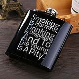 Piner 6 oz Bouteille de vin Flacon de Hanche Entonnoir personnalisé gravé Contenant d'alcool en Acier Inoxydable Mariage garçons d'honneur Cadeau, D
