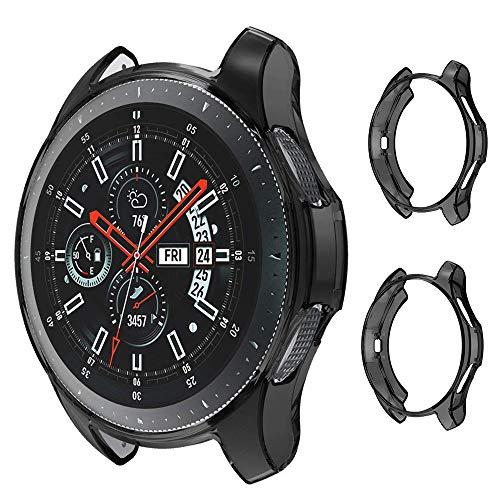 【2枚入り】Samsung Gear S3 Frontier専用ケース Samsung Gear S3 Classicカバー ソフト TPU材質 ぴったり対応 擦り傷防止 軽量 薄型 防衝撃 サムスン ギア S3 全面保護ケース Galaxy Watch 46mm