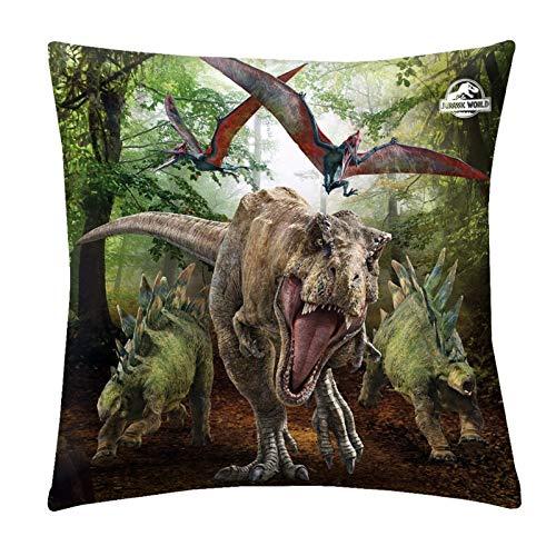 Jurassic World Kuschelkissen 40x40cm Dinosaurier Dino Zierkissen Kissen Jurassic Park
