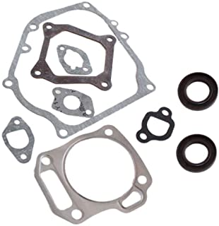 Poweka GX160 Cylinder Head Exhaust Muffler Full Gaskets Crankcase Oil Seal Compatible with Honda 5.5hp Engine