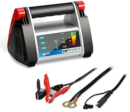 Cartrend 50247 Batterieladegerät DP 10 für 12 V Batterien bis 200 Ah, 2A/6A/10A