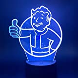 Lámpara de mesa 3D Juego de regalo de juguete para niños Fallout Shelter Lámpara de mesa 3D Regalo de juguete para niños Sensor de luz de noche LED Cambio de color Regalo Niños Decoración de dormito