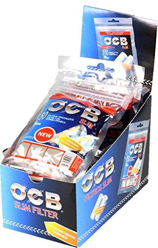 OCB 15443 slim de filtros de papel de fumar, 10x150 pcs, 6 mm