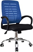 RANRANJJ Mid-Back Ergonomic Office Chair Mesh Padded Seat Comfortable Home Office Work Computer Gaming Desk Chair (Color :...