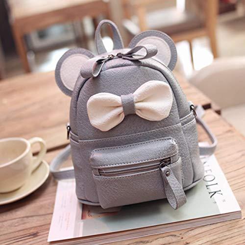 SeniorMar-UK Liebenswerte Bow Knapsack Female Shoulder Bag Robuste Umhängetasche Bequeme Umhängetasche Tragbarer Reiserucksack