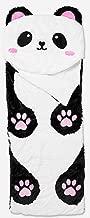 SOLD OUT ON LINE!! Justice plush panda Sherpa critter sleeping bag. Sleepover bear panda pillow blanket