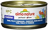 almo nature hfc natural - cibo umido complementare per gatti adulti con 100% tonno, pollo e formaggio freschi di qualità hfc. 24 lattine da 70g. - 2457 g