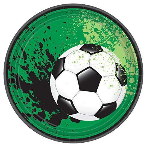 Amscan - Platos fútbol pequeños (547040A)