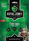 ROYAL JERKY - Teriyaki, Turkey Jerky, Trockenfleisch. 100% natural, 22g