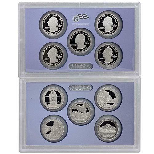 2010 S National Parks ATB Quarters Proof Set - 5 coins - No Box or COA GEM Proof US Mint Coin Box Coa No Coins