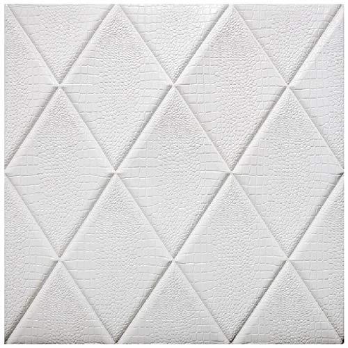 Selbstklebende Tapete YONGYONGCHONG PVC Wasserdicht Antikollisions Dekorative Aufkleber 3D Stereo Effekt Ziegel Soft Pack Schaum Papier (60 * 60 cm/Block) (Color : B)