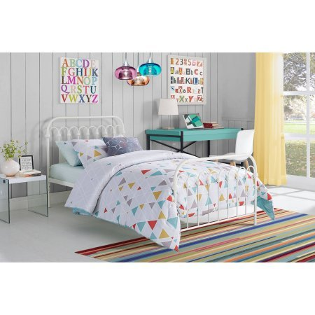 Novogratz 9 Bright Pop Twin Metal Bed,White