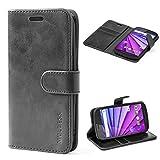 Mulbess Motorola Moto G 3rd Gen Case Wallet, Leather Folio