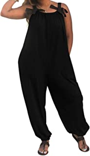 Casual Spaghetti Loose Fit Baggy Harem Overall Jumpsuit Long Pant Romper