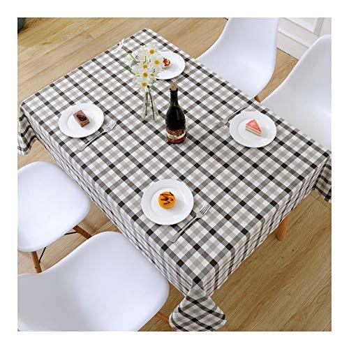 William 337 Mantel a cuadros, pequeño y fresco, rectangular, para sala de estar, mesa de café, uso en el hogar, duradero, fácil de limpiar (color: 2 #, tamaño: 120 x 180 cm)