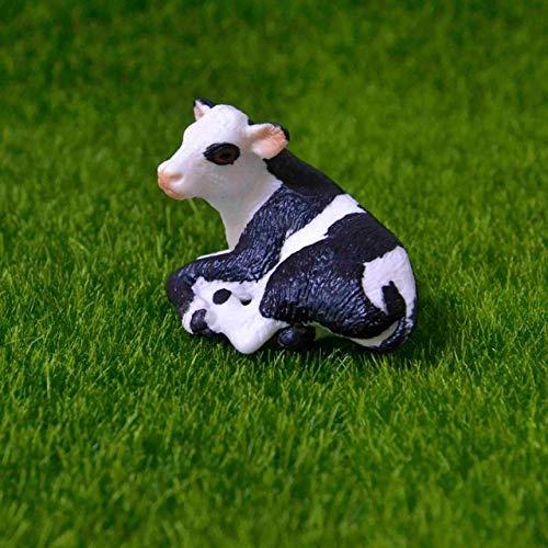 Originele echte boerderij dieren sets huisdieren honden paarden pony koeien schapen kip kip kat gans kinderen leren speelgoed kinderen gift, Holstein cub liegen
