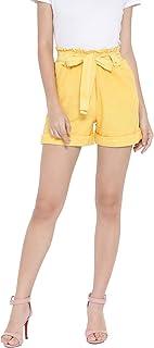 oxolloxo Women's Cotton Shorts (Yellow)