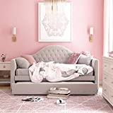Little Seeds Rowan Valley Arden Trundle, Twin, Dove Gray Daybed