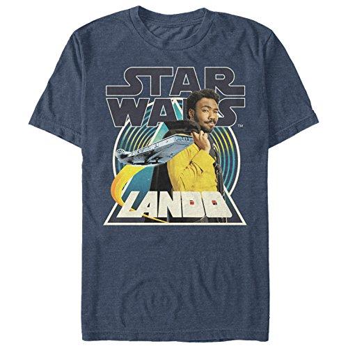 Solo: A Star Wars Story Men's Lando Pose Navy Blue Heather T-Shirt