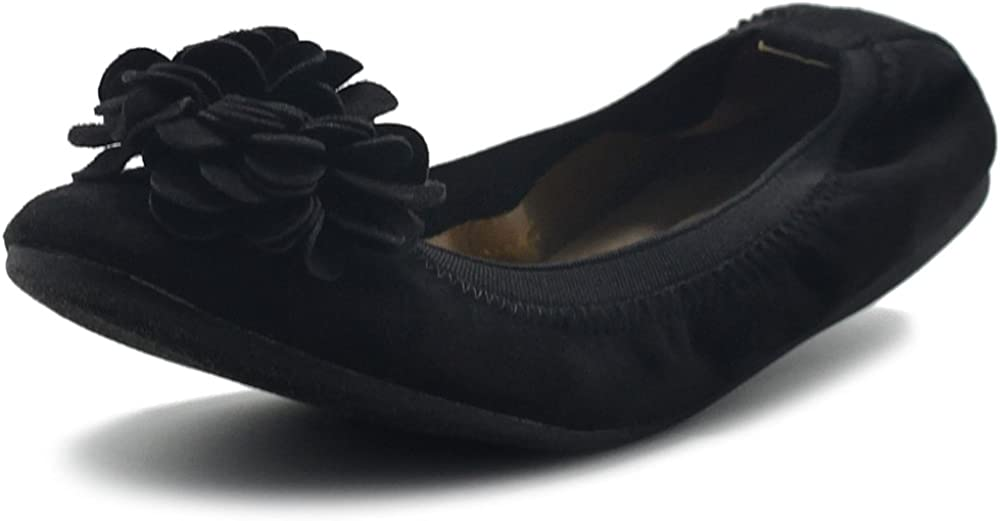 Ollio Women's Shoes Faux Suede Credence On Our shop most popular Comfort Decorative Slip Flower