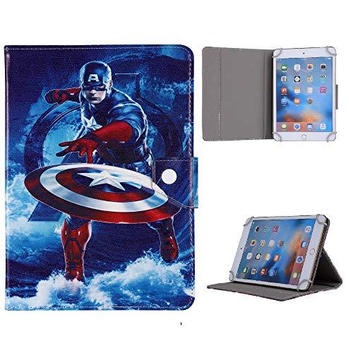 Heroes & Disney Character - Carcasa para Samsung Galaxy Tab 4 de 8 pulgadas, SM T330 T331 T335 T337, diseño de Capitán América